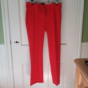 Red stretch cotton trouser pants